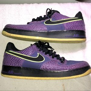 Nike Air Force 1 Low Court Purple/Black-Volt Sz 14
